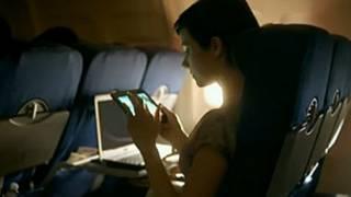 Mujer en un vuelo