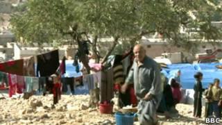 В лагере для сирийских беженцев