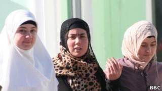 Студентки Исламского института в Душанбе