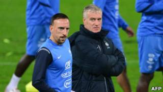 Didier Deschamps dan Frank Ribery