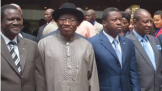 Shugaba Jonathan da takwarorinsa na Afrika