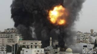 Последствия израильских авиаударов по сектору Газа