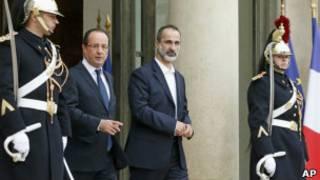 Франсуа Олланд и Моаз Хатиб