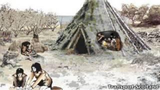 Рисунок древнего жилища