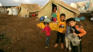 Wasu yara 'yan Syria a sansanin 'yan gudun hijira