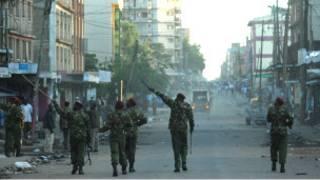 Polisi wa Nairobi wakiwa kazini