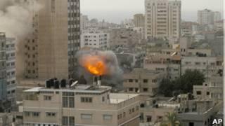 Пожар в секторе Газа