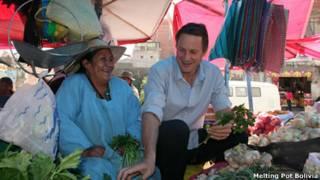 El chef Claus Meyer durante una visita reciente a Bolivia