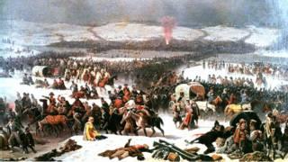 """""""Переправа Наполеона через Березину"""" (картина Януария Суходольского, 1866)"""