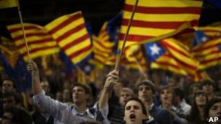 Предвыборный митинг в Каталонии