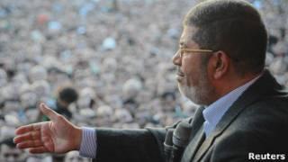 Президент Египта Мохаммед Мурси на митинге 23 ноября