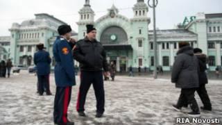 Казаки в центре Москвы
