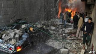 На месте взрывов в Джарамана