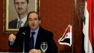 vicecanciller de Siria, Faisal Mekdad, en Caracas, Venezuela