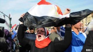 Протестующие в Египте