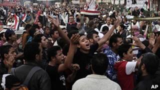 protesta en la plaza Tahrir