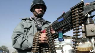 Афганский военный в Джелалабаде