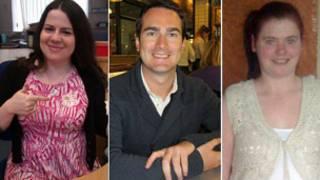 tres personas con epilepsia fotosensitiva
