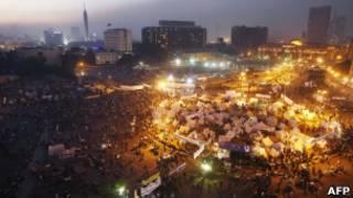 Палаточный лагерь на площади Тахрир в Каире