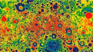 Mapa de la Luna obtenido por la misión Grail