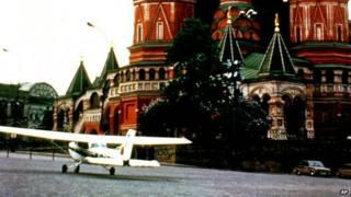Avioneta de Mathias Rust en Moscú
