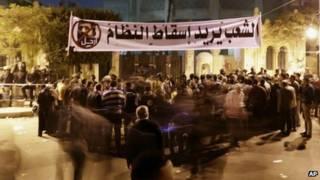 Демонстрация у президентского дворца в Каире