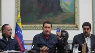 Diosdado Cabello, Hugo Chávez y Nicolás Maduro