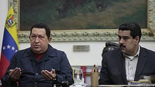 Chávez y Nicolás Maduro