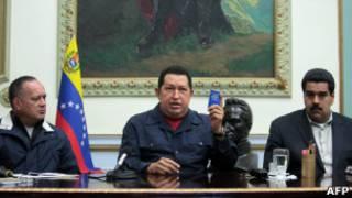 Diosdado Cabello, Hugo Chavez y Nicolás Maduro