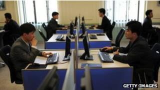 Ciber café en Corea del Norte