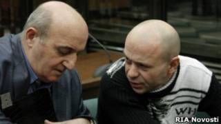 Павлюченков и его адвокат в Мосгорсуде
