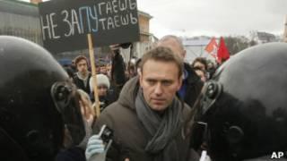 Алексей Навальный на шествии оппозиции