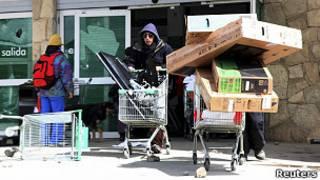 Saqueos en supermercados argentinos