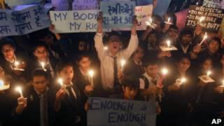 Акция протеста в Дели
