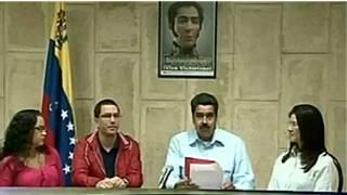Rosa Chávez, Jorge Arreaza, Nicolás Maduro y Cilia Flores.