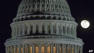 Купол Капитолия при Луне