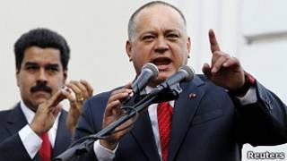 Diosdado Cabello y Maduro