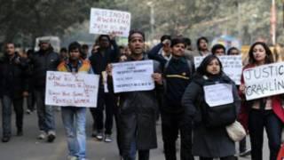 Protes kasus perkosaan di India