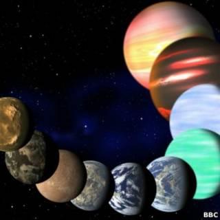 """Примеры планет, обнаруженных """"Кеплером"""""""