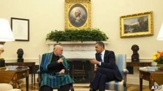 Барак Обама и Хамид Карзай в Белом доме (фото 12 мая 2010 года)