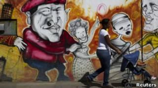 Граффити с изображением Чавеса