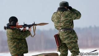 На военных сборах губернаторов Центрального федерального округа