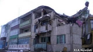 Обрушение дома в Чувашии после взрыва газа