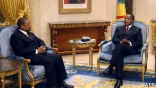 Maître Tiangaye reçu par le président Sassou Ngesso