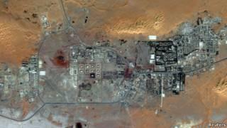 Kompleks gas alam di Aljazair.