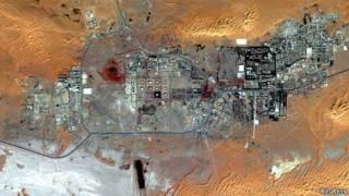 Vista satelital de la planta de In Amenas
