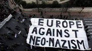 Protesta contra el racismo en Grecia el pasado diciembre