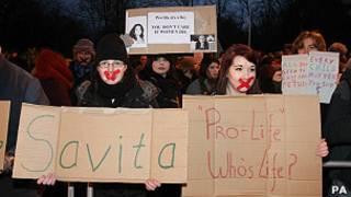 Protesta en Dublín