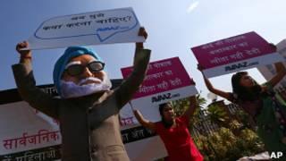 Протест возле суда в Дели