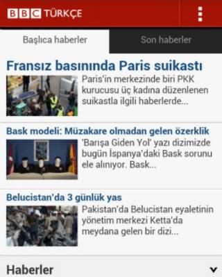 BBC Türkçe Android uygulaması app yardım